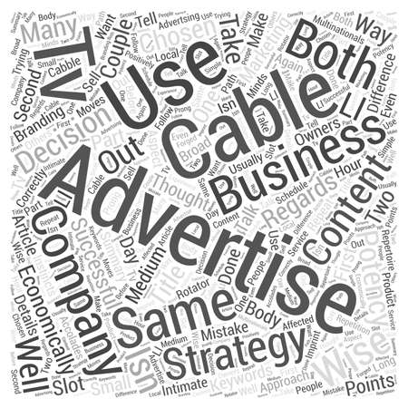 cable tv: Cable Tv Advertising With A Difference Illustration