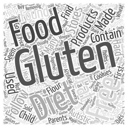 Gluten Free Diet word cloud concept