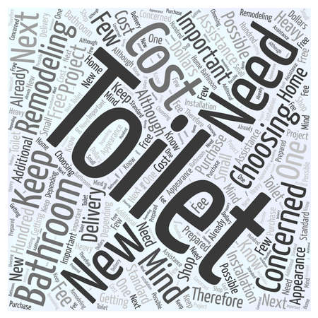 Remodeling Your Bathroom Choosing Your New Toilet word cloud concept Çizim