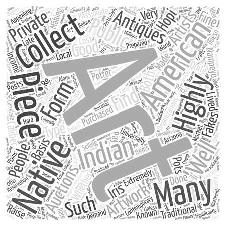 collectibles: native american art auctions art antiques word cloud concept