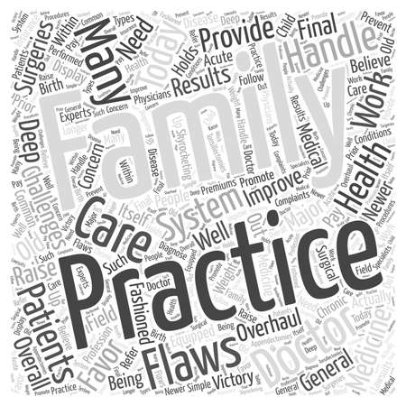 practices: The Challenges of Family Practices in Today word cloud concept