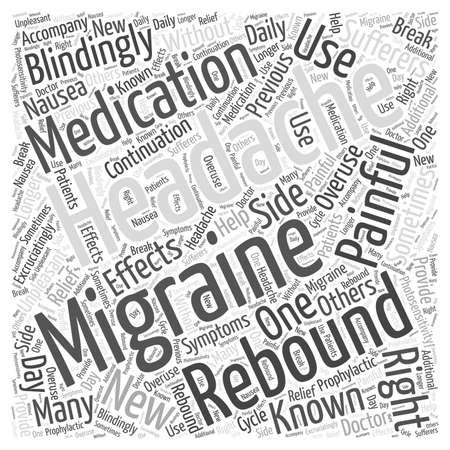 Migraines et Céphalées Rebound mot, nuage, concept Banque d'images - 67221648