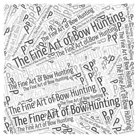 bow hunting Ilustração