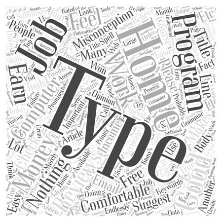 Type At Home for Money word cloud concept