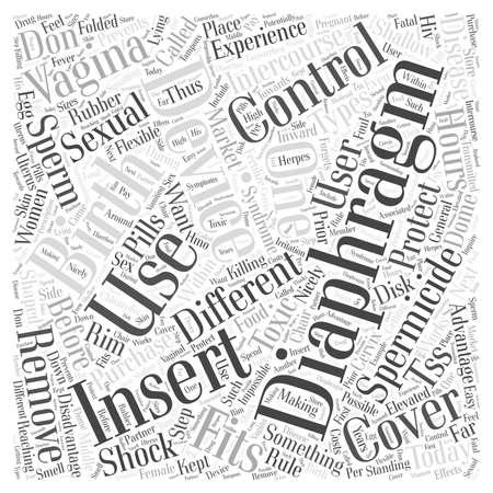 Diaphragm Birth Control word cloud concept