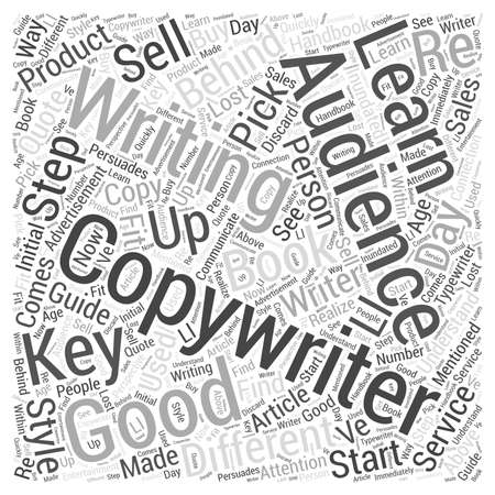 copywriting: Learning Copywriting word cloud concept