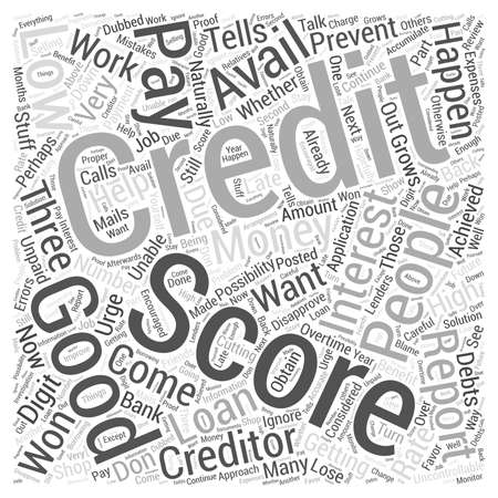 Een goede credit score