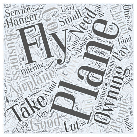 charter: From Flying an Airplane to Owning One word cloud concept Illustration