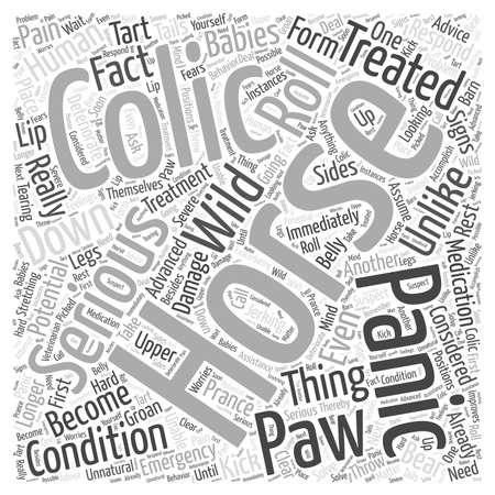 horse colic word cloud concept Ilustração