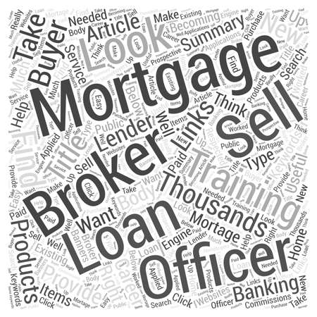 Mortgage Brokers and Loan Officers word cloud concept