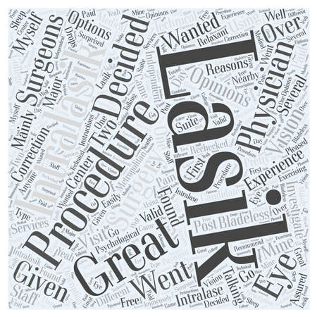 My Intralasik Experience word cloud concept