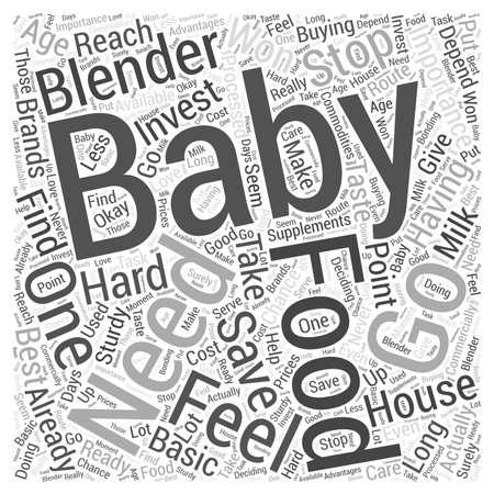 Het belang van uw eigen Baby Food Blenders woord wolk concept Stock Illustratie