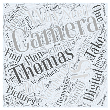 Ways to Forever Remember Your St Thomas Vacation word cloud concept