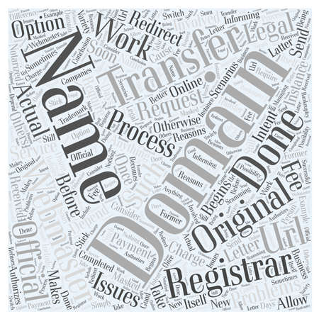 Transferring Domain Names word cloud concept