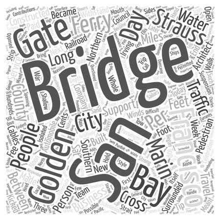 water s: Construction of the Golden Gate Bridge word cloud concept