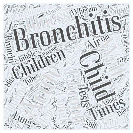 bronchitis: bronchitis child Illustration