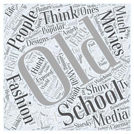 concepto palabra nube de moda de la vieja escuela