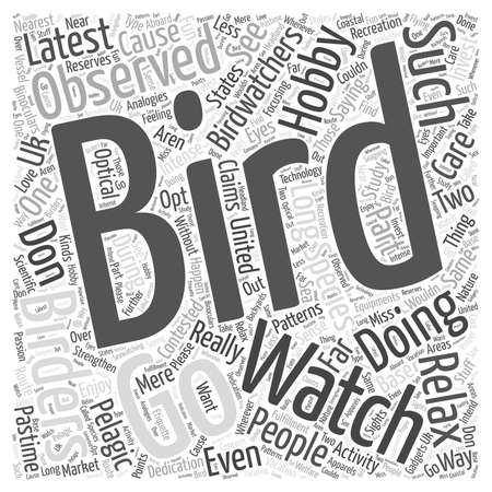 Bird Watching, a Hobby with a Cause Illustration