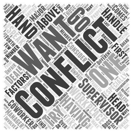 How to Properly Handle Workplace Conflicts word cloud concept