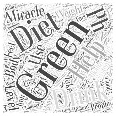 taken: Green drinks and the pH miracle diet word cloud concept