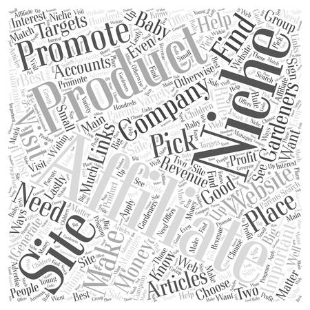 affiliates: Making Money with Articles Where to Find Affiliates For Your Niche Web word cloud concept