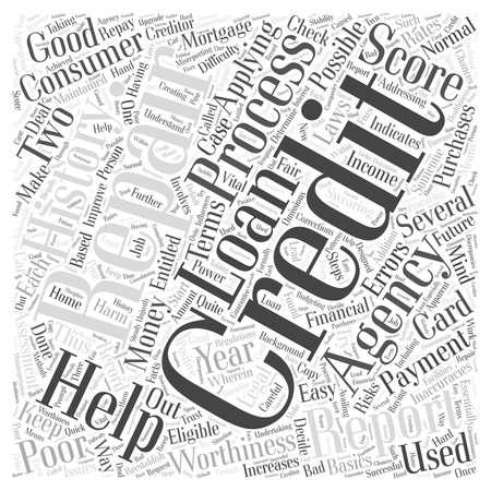 The Basics of Credit Repair word cloud concept