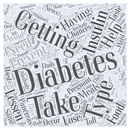 gestational: Preventing Diabetes after having Gestational Diabetes word cloud concept