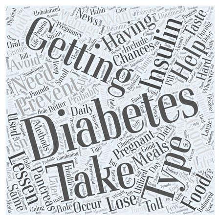 gestational: Preventing Diabetes after having Gestational Diabetes word cloud concept