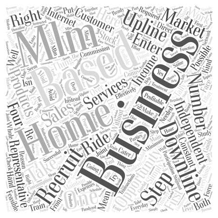 opportunity concept: Home Based MLM Business Opportunity Business word cloud concept