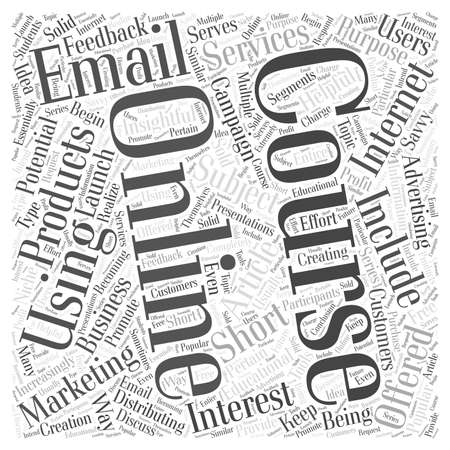 Using Online Courses For Internet Marketing word cloud concept