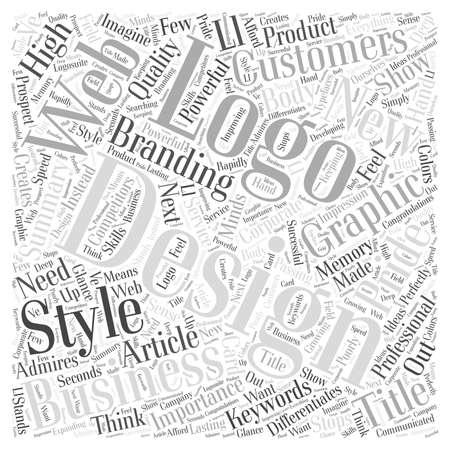 ブランドの単語クラウドのコンセプトのロゴの設計の重要性