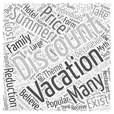 Discount Summer Vacations Do They Exist word cloud concept