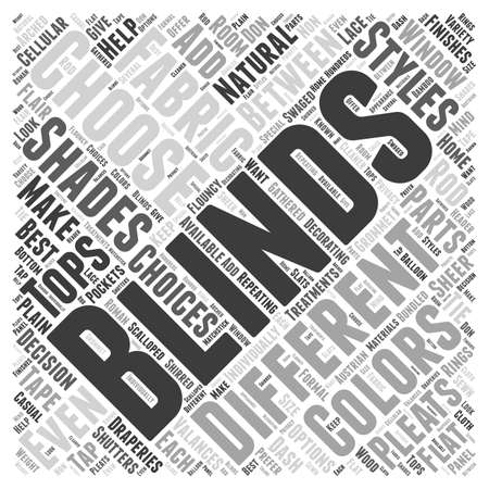 Styles Of Blinds Shutters word cloud concept
