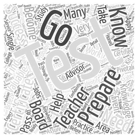 valuables: Preparing to Become Certified word cloud concept Illustration