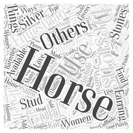 equestrian jewelry word cloud concept
