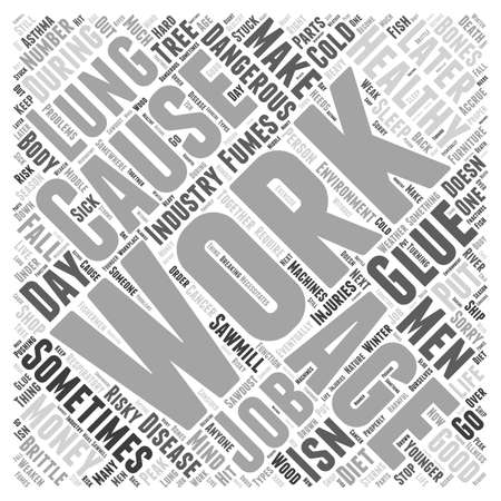 The Work Environment in Healthy Aging word cloud concept Ilustracja