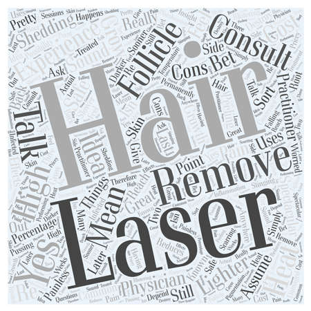 shedding: The Cons of Laser Hair Removal word cloud concept