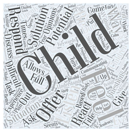react: Do You Listen to your Child word cloud concept Illustration