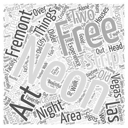 vegas strip: Free Things to do in Las Vegas word cloud concept