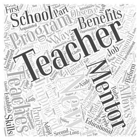 mentoring leraren word cloud concept Stock Illustratie