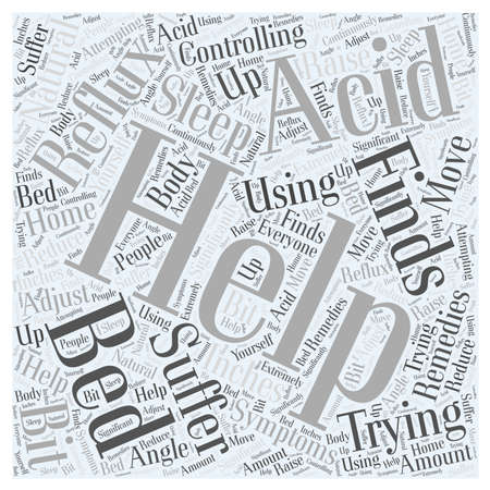 reflux: Controlling Acid Reflux Using Natural Home Remedies word cloud concept