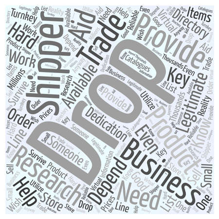 shipper: The Drop Shipper how they help the business word cloud concept Illustration