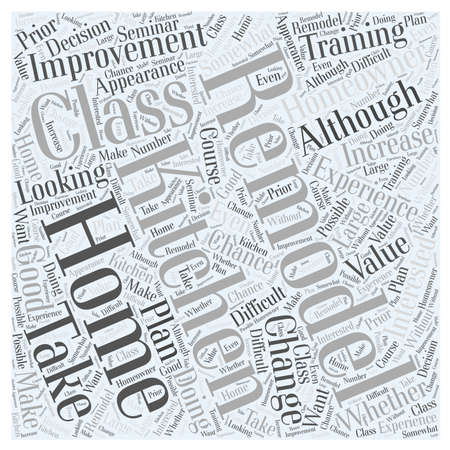 Why You Should Take a Kitchen Remodeling Class word cloud concept