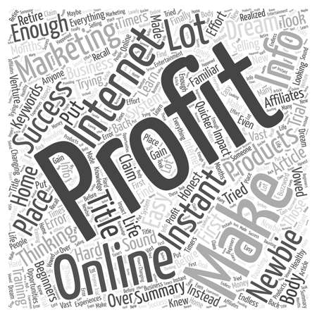 The Dream of Easy Instant Profits word cloud concept