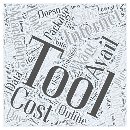 accelerate: Low cost internet marketing tools word cloud concept Illustration