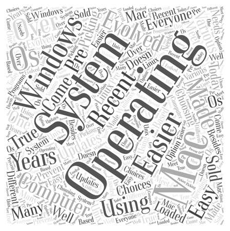 operating system word cloud concept