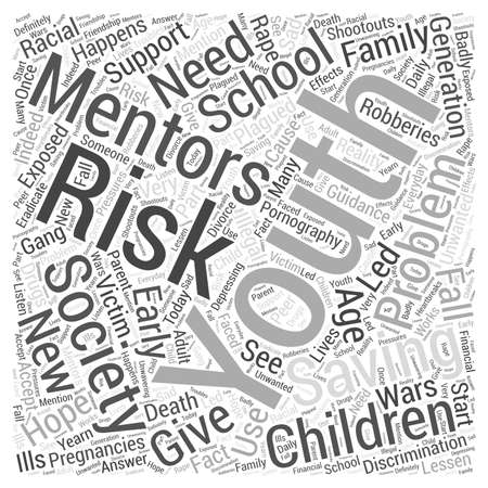 unwanted: mentoring at risk children word cloud concept