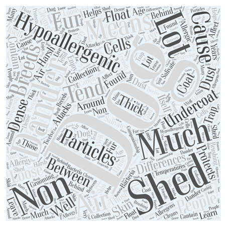 differences between non hypoallergenic dogs and hypoallergenic dogs word cloud concept