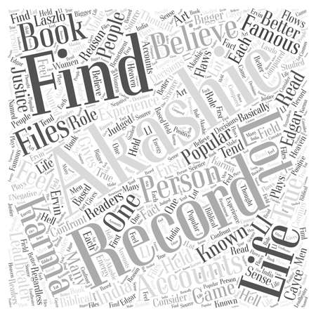 Famous files of Akashic records word cloud concept 向量圖像