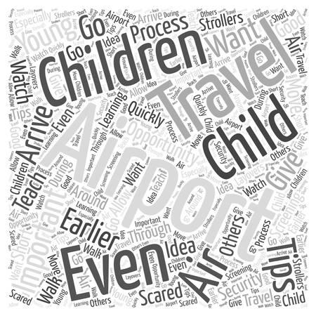 Important Air Travel Tips word cloud concept Иллюстрация